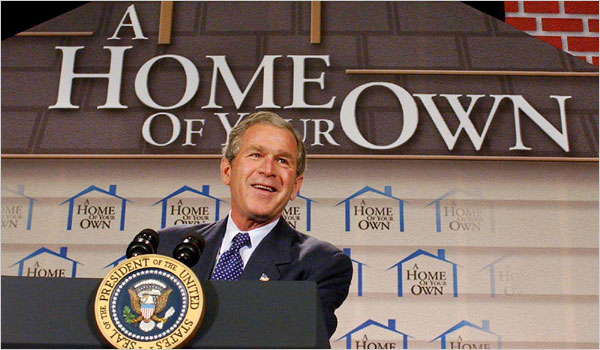 In June 2002, President Bush spoke in Atlanta to unveil a plan to increase minority homeownership.