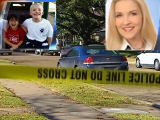 Police are investigating the killings of Jeanmarie Geis, top right, and her two children. They were found on Friday, each dead of a single gunshot wound to the head.