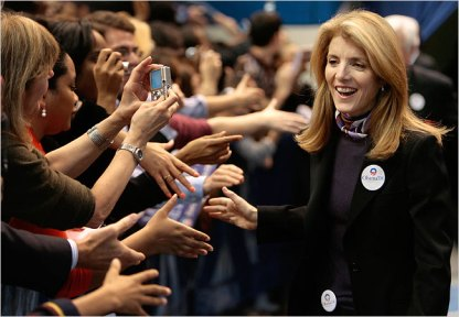 Caroline Kennedy campaigning for Barack Obama in Hartford, Conn., in February.