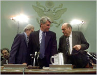 In 1998, Gregory B. Craig, center, was White House special counsel during President Bill Clinton's impeachment proceedings.