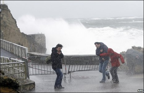 The strongest storms for a decade in northern Spain and south-west France have wrought widespread destruction.
