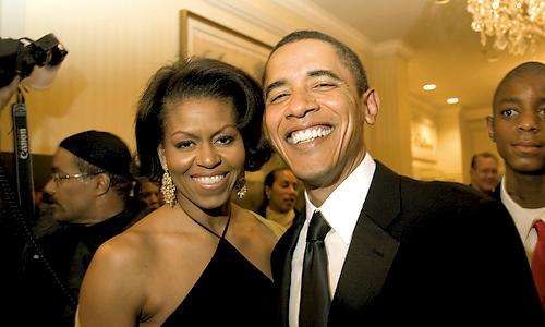 Presidet Barack and 1st Lady Michelle Obama
