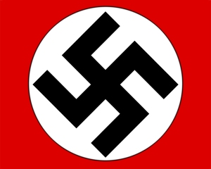 This is the swastika that symbolizes hate.
