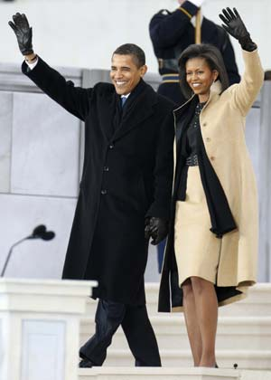 Opening Inaugural Celebration at the Lincoln Memorial in Washington, January 18, 2009.