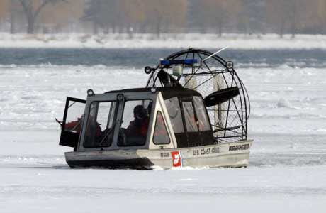 A U.S. Coast Guard rescue boat, is pictured in a Jan 30 file photo on the Detroit River.