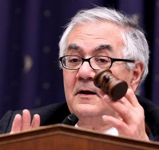 House Financial Services Committee Chairman Barney Frank, D-Mass., presides over the committee's hearing on Capitol Hill in Washignton, Wednesday, Feb. 11, 2009.
