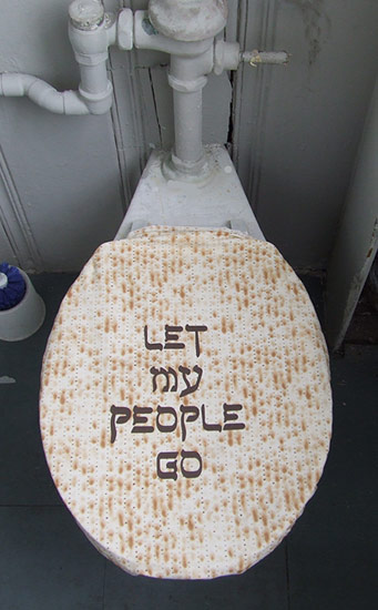 The Let My People Go Toilet Seat Cover takes the biblical phrase to a hole new level.